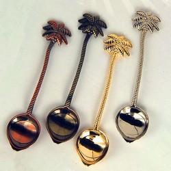 Królewska łyżeczka vintage z kokosem do herbaty & kawy & deserów ze stali