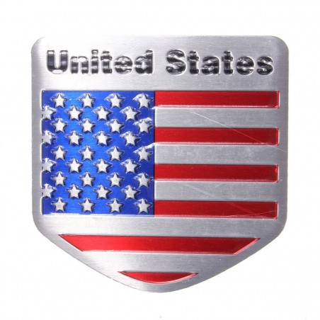 United States - USA flag - metal emblem sticker