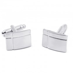 Stylish rectangle stainless steel cufflinks
