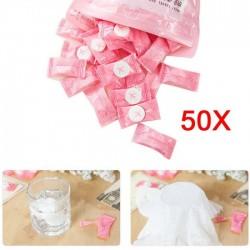 Toalla de viaje comprimida - algodón 50 piezas