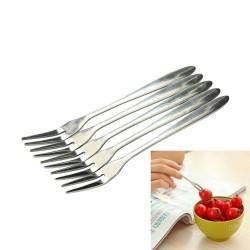 Fourchette en acier inoxydable pour desserts et apéritifs 10/20 pièces