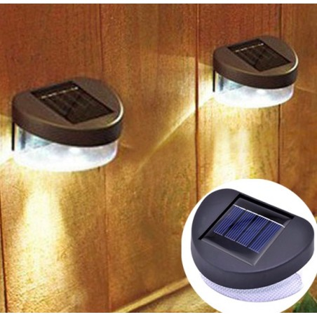 Outdoor Solar LED Garden Fence Lamp