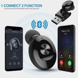 5.0 Mini-Bluetooth-Ohrhörer - kabelloser Ohrhörer mit USB-Aufladung