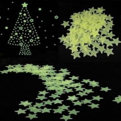Glow-in-the-Dark stars stickers 3 cm 100 pieces