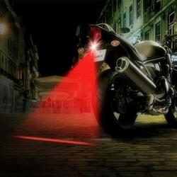 Motocyklowa laserowa lampa przeciwmgielna - tylne światło