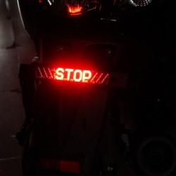Motorrad-LED-Rücklicht - STOP-Anzeige - LED-Blinkerleiste