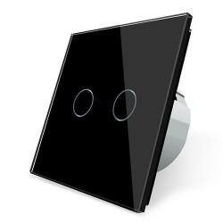 Luksusowy ścienny włącznik światła z czujnikiem dotykowym - szkło kryształowe - 2-biegunowy & 1-drożny