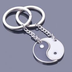 Czarno-biały Yin Yang - brelok do kluczy