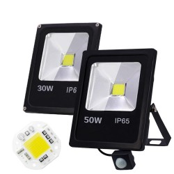 10W 30W 50W / AC 220V 240V - LED Fluter mit Bewegungssensor - IP65 wasserdicht