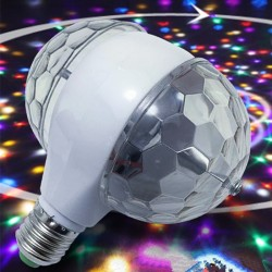 6W LED E27 RGB light - ampoule rotative à double tête - lampe de scène et disco