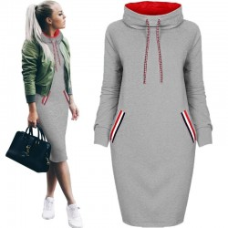 Elegant Knee Length Winter Dress