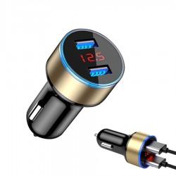 5V 3.1A - Led - uniwersalna samochodowa ładowarka do telefonu z podwójnym USB