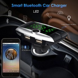 USB TF SD wireless Bluetooth FM transmitter - car Mp3 player with dual USB charger