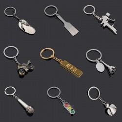 Flip flops & traffic lights - metal keychain