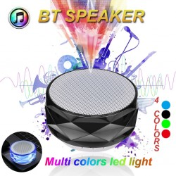 Altoparlante wireless Bluetooth con LED - supporto TF card