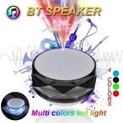 Bezprzewodowy głośnik Bluetooth z LED - obsługa karty TF