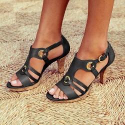 Sandalias de cuero de gladiador de moda
