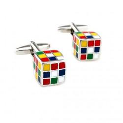 Gemelos con cubos de colores