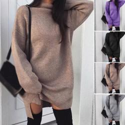 Autumn - winter loose sweater - mini dress