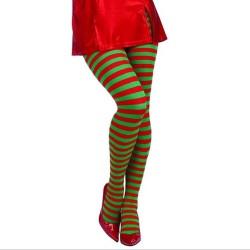 Świąteczny elf - pończochy w paski