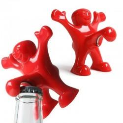 Hombre rojo - abrebotellas divertido