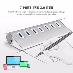 USB 3 Aluminium 7 port USB hub - splitter