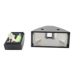 Solar powered LED light with sensor - triangle shape