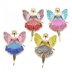 Kristall fliegende Engel - Brosche