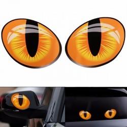 Autocollant de voiture Cat Eyes - 3D réfléchissant - 10 * 8cm