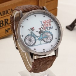 """ I want to ride my bicycle "" Quartz horloge"