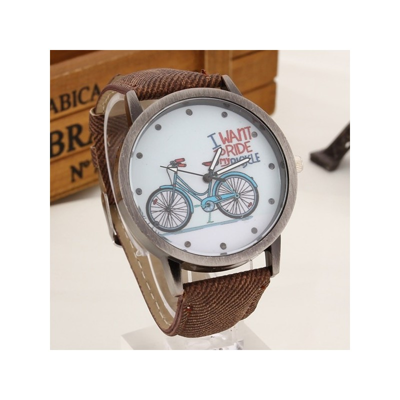 """ I want to ride my bicycle "" Reloj"