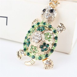 Tortuga de cristal verde - llavero