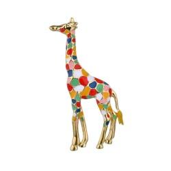 Emaliowana żyrafa - elegancka broszka