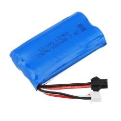 HS 18650 7,4V 1200 mAh 25C 2S - akumulator litowo-jonowy - wtyk zapobiegający cofaniu do samochodu 18301/18302 18311/18312 Rc