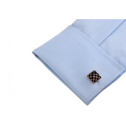 Gold & black square cufflinks