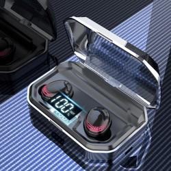 Bluetooth 5 - wyświetlacz LED - bezprzewodowe słuchawki - stereofoniczny zestaw słuchawkowy 8D z etui ładującym 3000mAh