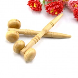 Wooden massage roller for eyes - face