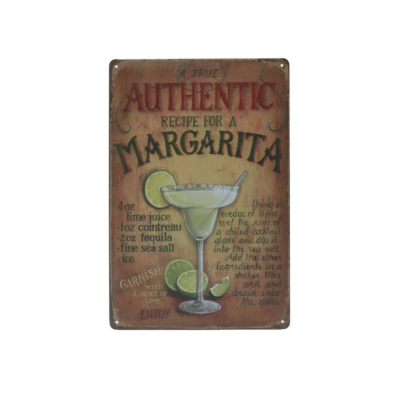 Cartel Margarita en Metal
