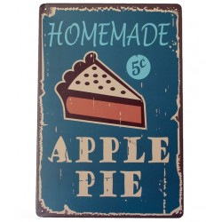 Homemade apple pie metalen bord poster