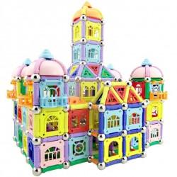 Magnetyczne patyczki z metalowymi kulkami - klocki magnetyczne - konstrukcja budynku zamku - zabawka edukacyjna