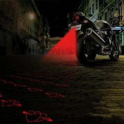 Motocyklowe tylne światło ostrzegawcze - laserowa lampa przeciwmgielna z wzorem