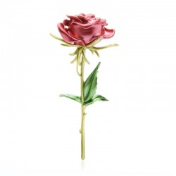 Elegancka broszka z czerwoną różą