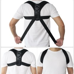 Aptoco adjustable back posture corrector - clavicle spine back shoulder lumbar brace - support belt posture correction