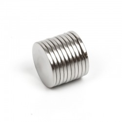 N50 Neodymium cylinder magnet 10 * 1mm - 10 pieces