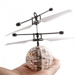 Flying disco ball con LED - helicóptero R / C