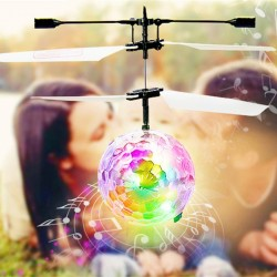 Flying disco ball with LED - R/C helicopter