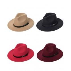 Modny bawełniany kapelusz z ozdobnym paskiem
