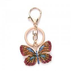 Mariposa de cristal - llavero