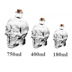 Crystal head skull - jarra para vodka y vino - 180ml - 400ml - 750ml