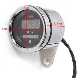 Motorcycle digital RPM tachometer - fuel gauge - LED